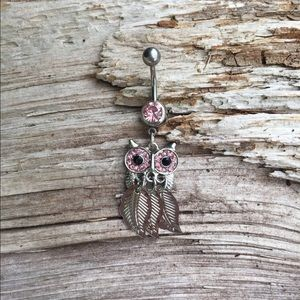 Owl Belly Button Navel Ring
